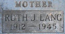 Ruth J. <i>Sterling</i> Lang