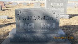 Christina <i>Eisenbarth</i> Wiedeman