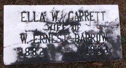 Ella W <i>Garrett</i> Barrow