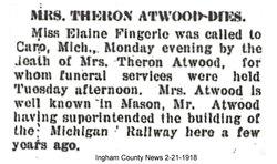 Clara Ellen <i>Gibbs</i> Atwood
