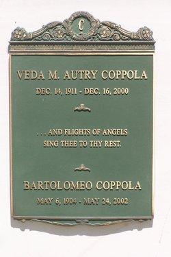 Veda Mary <i>Autry</i> Coppola
