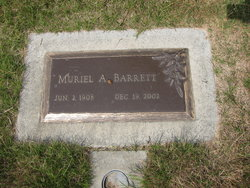 Muriel A <i>Williams</i> Barrett