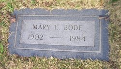Mary E <i>Newell</i> Bode
