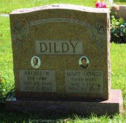 Mary <i>King</i> Dildy