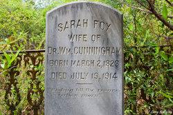 Sarah <i>Fox</i> Cunningham