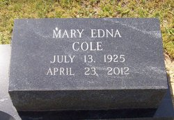 Mary Edna <i>Cole</i> Colvin