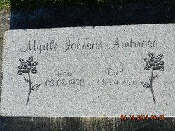 Myrtle <i>Johnson</i> Ambrose