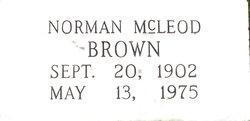 Norman McLeod Brown