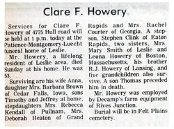Clare Fred Howery