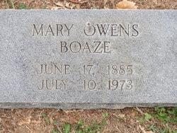 Mary Elizabeth <i>Owen</i> Boaze