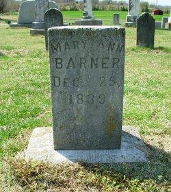 Mary Ann <i>Paschall</i> Barner