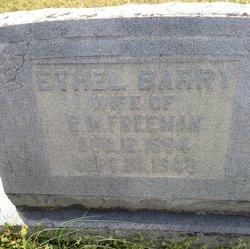 Ethel <i>Barry</i> Freeman