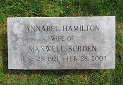 Annabel <i>Hamilton</i> Burden