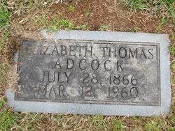 Elizabeth <i>Thomas</i> Adcock