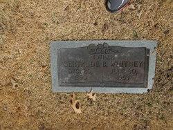 Willie Gertrude Gertie <i>Burgess</i> Whitney