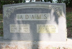 Lillie <i>McNeill</i> Adams