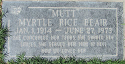 Myrtle Marx Mutt <i>Rice</i> Beair