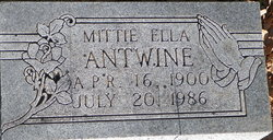 Mittie Ella Antwine