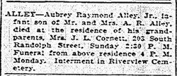 Aubrey Raymond Alley, Jr