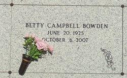 Betty Gene <i>Campbell</i> Bowden