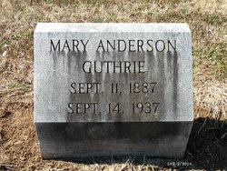 Mary <i>Anderson</i> Guthrie