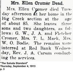 Ellen Elizabeth <i>McCarty</i> Cromer