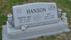 Martha Mae <i>Shannon</i> Hanson