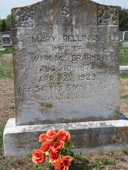 Mary <i>Bellings</i> Sparks