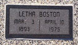 Letha <i>Turner</i> Boston