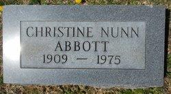 Christine <i>Nunn</i> Abbott