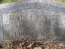 Edwin F Bowser