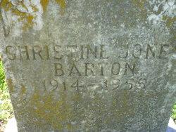 Christine <i>Jones</i> Barton