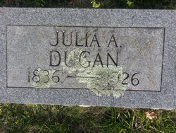 Julia Ann <i>King</i> Dugan