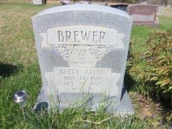 Betty <i>Allen</i> Brewer