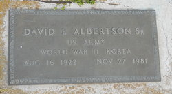 David E. Albertson, Sr