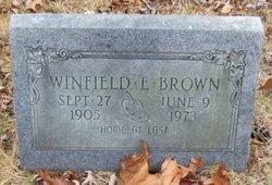 Winfield E Brown
