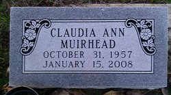Claudia Ann <i>Williams</i> Muirhead