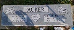 Mary Jane <i>Adcox</i> Acker