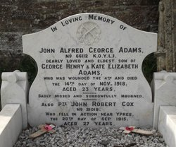 Pvt John Alfred George Adams