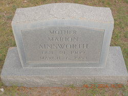 Marion J Ainsworth