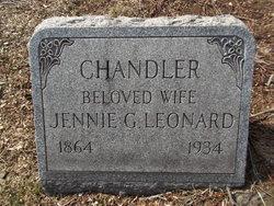Jane G. Jennie <i>Leonard</i> Chandler