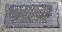 LCpl Tamario Demetrius Burkett