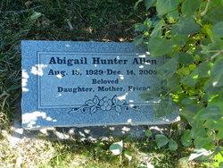 Abigail <i>Hunter</i> Allen