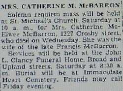 Catherine <i>McElwee</i> McBarron