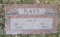 Iva Mae <i>Peden</i> Hays