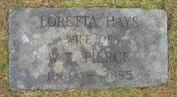 Loretta Filmore <i>Hays</i> Pierce