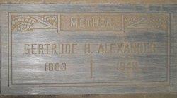 Hannah Gertrude <i>Byrnes</i> Alexander