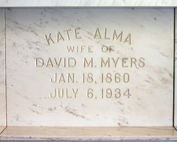 Kate Alma <i>Burress</i> Myers
