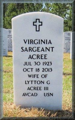 Virginia <i>Sargeant</i> Acree