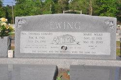 Marie <i>Wilks</i> Ewing
